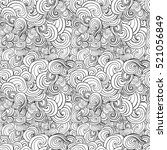 big seamless pattern with black ... | Shutterstock . vector #521056849