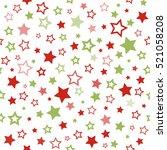stars pattern. seamless vector... | Shutterstock .eps vector #521058208