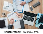 business people working at... | Shutterstock . vector #521063596