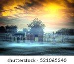 abandoned cemetery | Shutterstock . vector #521065240