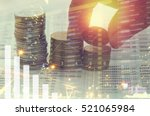 pile coin money with account...   Shutterstock . vector #521065984