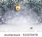 Christmas Background With Snow...