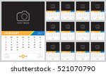 calendar 2017 vector template ... | Shutterstock .eps vector #521070790