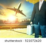 business man and briefcase... | Shutterstock . vector #521072620