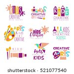 kids creative class template... | Shutterstock .eps vector #521077540