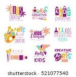 kids creative class template... | Shutterstock .eps vector #521077540