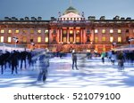 night view of somerset house... | Shutterstock . vector #521079100