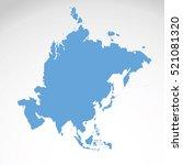 detailed vector map of asia... | Shutterstock .eps vector #521081320