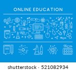 line design concept web banner... | Shutterstock .eps vector #521082934