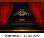 vector premium red curtains in... | Shutterstock .eps vector #521086090