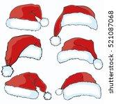 santa hat   vector illustration | Shutterstock .eps vector #521087068
