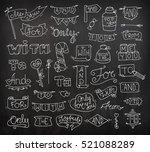 doodle calligraphic funny... | Shutterstock . vector #521088289