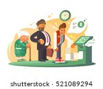 bad service at bank. | Shutterstock .eps vector #521089294