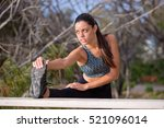 young fit and healthy woman... | Shutterstock . vector #521096014