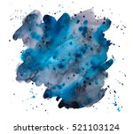 Hand Painted Watercolor Blot ...