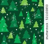 Vector Christmas Tree Seamless...