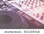 turntablism turntables plate... | Shutterstock . vector #521105518