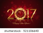 vector 2017 happy new year... | Shutterstock .eps vector #521106640