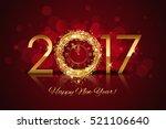 vector 2017 happy new year... | Shutterstock .eps vector #521106640