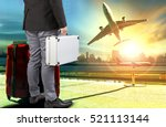 business man and briefcase ... | Shutterstock . vector #521113144