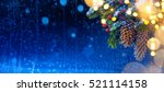 snow christmas tree and... | Shutterstock . vector #521114158