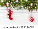 christmas background. christmas ... | Shutterstock . vector #521114638