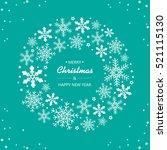festive christmas background... | Shutterstock .eps vector #521115130