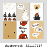 hand drawn vector abstract... | Shutterstock .eps vector #521117119