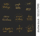 set of christmas and new year... | Shutterstock .eps vector #521117590