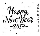 happy new year 2017....   Shutterstock .eps vector #521124364