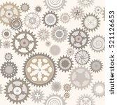 clock cogwheels. retro seamless ... | Shutterstock . vector #521126653