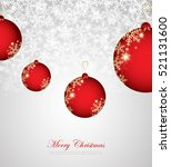 merry christmas and happy new... | Shutterstock .eps vector #521131600