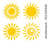 sun icons set illustration