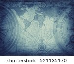 old map of the world. elements... | Shutterstock . vector #521135170