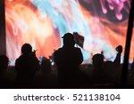 crowd at concert   cheering...   Shutterstock . vector #521138104