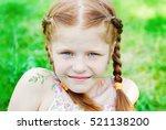 beautiful redhead girl in the...   Shutterstock . vector #521138200