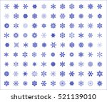 different snowflake set... | Shutterstock .eps vector #521139010