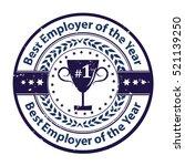 best employer of the year  ... | Shutterstock .eps vector #521139250