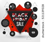 black friday sale typographic... | Shutterstock .eps vector #521139328