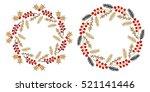 christmas wreath isolated on... | Shutterstock .eps vector #521141446