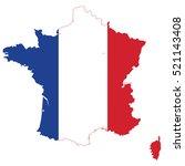 france flag map | Shutterstock .eps vector #521143408