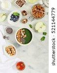 breakfast table with green... | Shutterstock . vector #521144779
