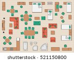 home furniture top view    Shutterstock .eps vector #521150800