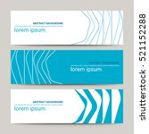 set of modern design banners... | Shutterstock .eps vector #521152288