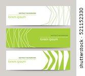 set of modern design banners... | Shutterstock .eps vector #521152330