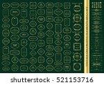 gold frames mega set.... | Shutterstock .eps vector #521153716