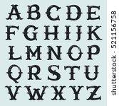 vintage decorative slab serif... | Shutterstock .eps vector #521156758