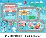 Lovely Snowy City Landscape Car ...