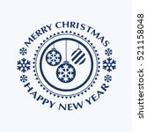 merry christmas design clean... | Shutterstock .eps vector #521158048
