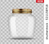 glass jar for canning and... | Shutterstock .eps vector #521158918